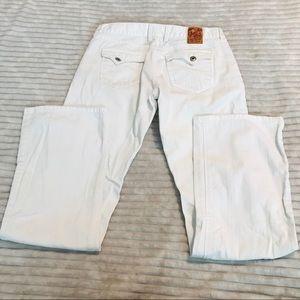 Lucky Brand Socialite White Jeans Flap Pocket 6 28